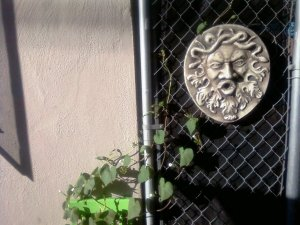 Green Man with Morning Glory Vines